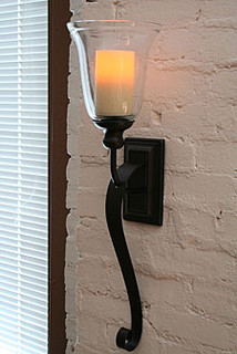 Rubbed Oil Bronze Battery Operated Iron Scroll Sconce