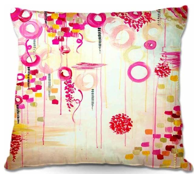 Pillow Woven Poplin - Bubble Gum Pop bed-pillows