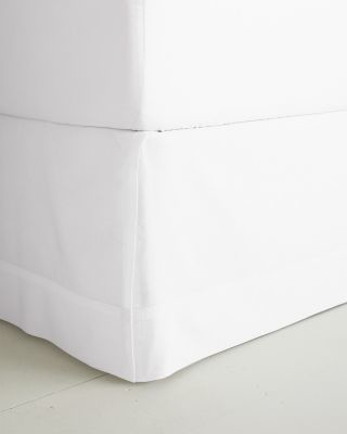 Cotton & Linen Tailored Panel Bed Skirt traditional-bedskirts