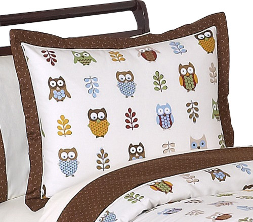 Night Owl Pillow Sham by Sweet Jojo Designs traditional-bed-pillows-and-pillowcases