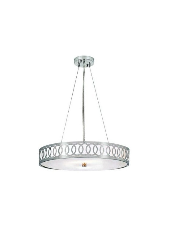 Brushed Nickel with Opal Glass Contemporary Chandelier -