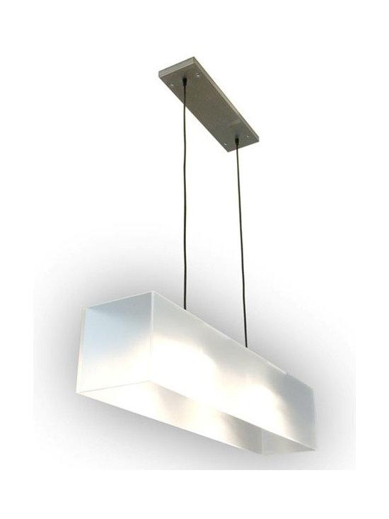 GUS* MODERN WHITE ACRYLIC HANGING LAMP -