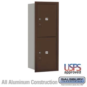 4C Horizontal Mailbox - 12 Door High Unit (44 1/2 Inches) - Single Column modern-mailboxes