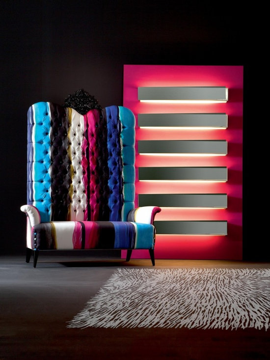 MEGATIZZI bench Creazioni - MEGATIZZI bench Creazioni from £3,230 to £4,200. PANNELLO light - Decorative panel with 6 neon lights £2,470. Ships worldwide. Email ilive@imagine-living.com