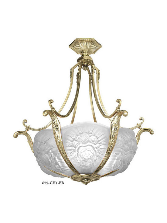 Victorian Chandeliers - Although we specialize in American antique lighting, we made an exception for this beauty.  This fixture originally came from a great antique light made in France during the height of the Art Nouveau period, where except for Tiffany of New York, the very best Art Nouveau originated.  We had never seen anything close to the beauty of this fixture.