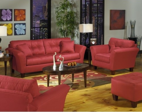 Riviera Chair and Ottoman Set modern-accent-chairs