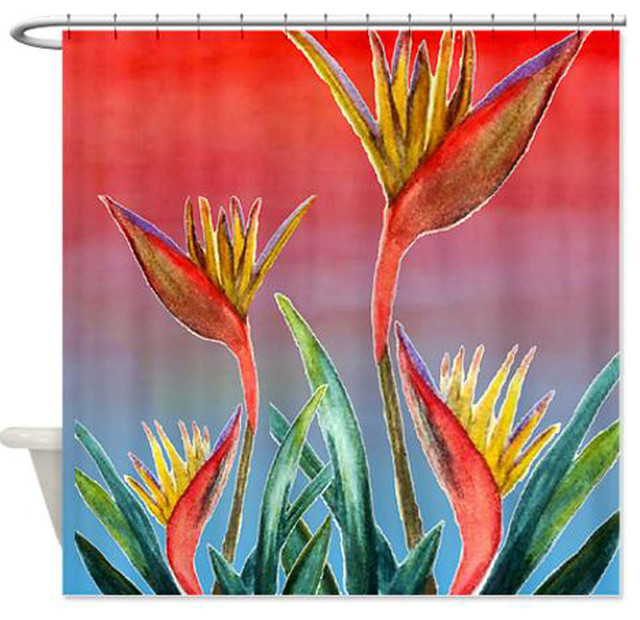 Bird Of Paradise Shower Curtain Tropical Shower Curtains By Gifts By The Beach