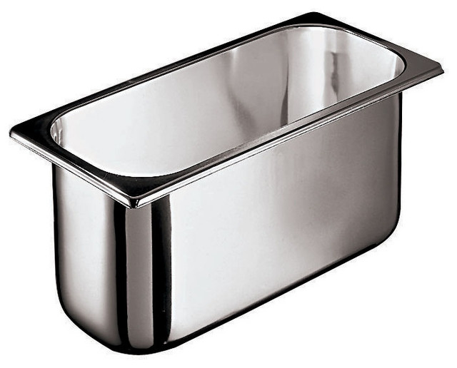 8-Quart Stainless-Steel Ice Cream Container traditional-serveware