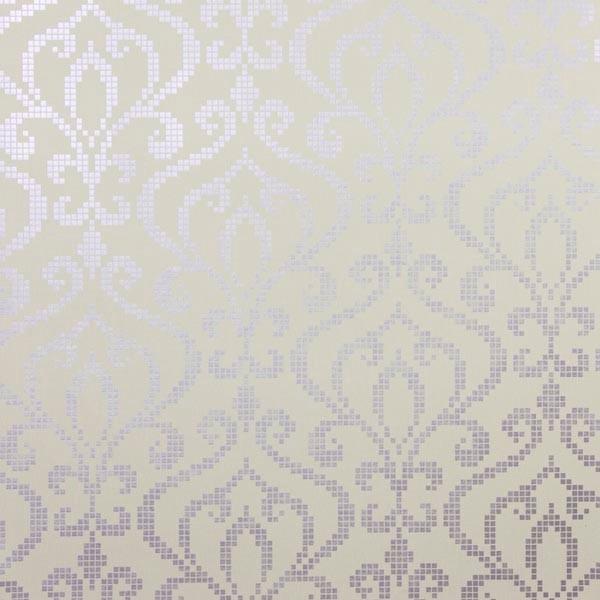 Venus Lavender Metallic Mini Damask Wallpaper Bolt