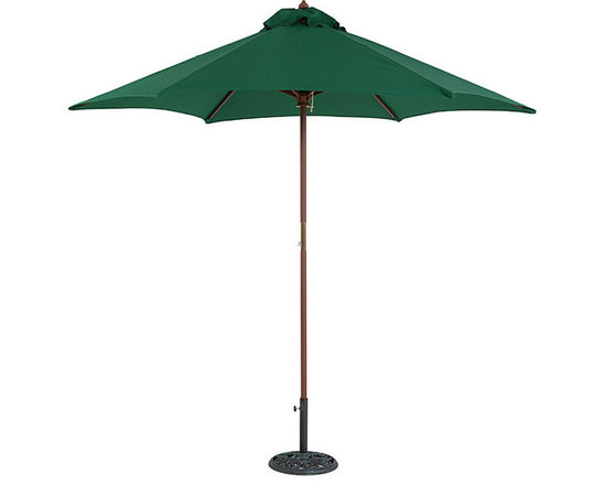Treasure Garden Patio Umbrellas, Umbrella Accessories and Umbrella Bases - Free Shipping! Our Treasure Garden 9' Wood Double-Pulley Lift Hexagon Umbrella is great for a low-cost shade solution! This wood umbrella is made to withstand the elements and comes in a Forest Green Polyester canopy with a single wind vent. This durable umbrella utilizes a double-pulley lift system that is easy to operate and has few moving parts.