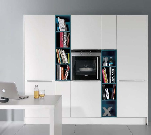 White Laqeur kitchen contemporary
