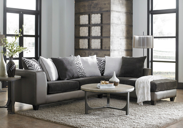 Shimmer Magnetite 2 Piece Sectional Modern Living Room Columbus By Am