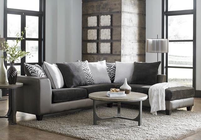 Shimmer Magnetite 2 Piece Sectional Modern Living Room