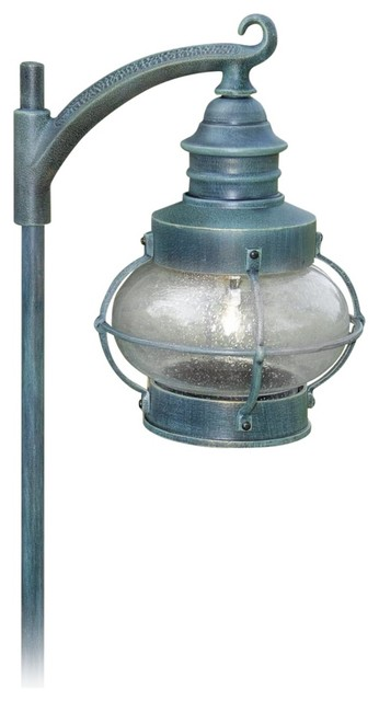 Transitional Nautical Lantern Verde Green 28