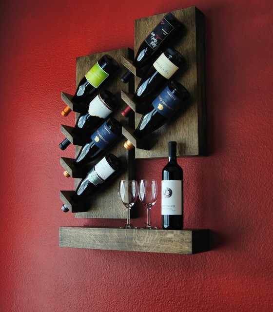 Custom Floating Wine Rack