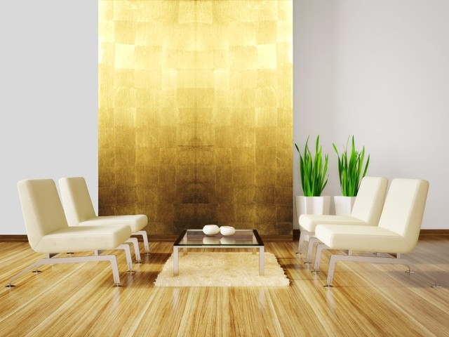 Gold leaf wall panels - Eclectic - Wall Panels - other metro - by Rêve d'Or