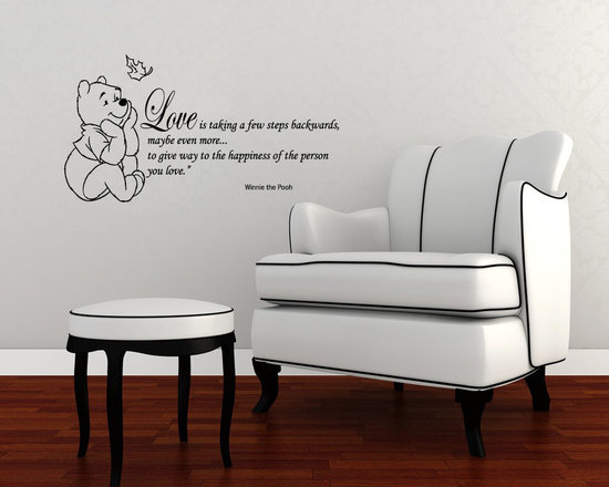Vinyl Decals Winnie the Pooh Quote Love Happiness Home Wall Art Decor Removable -