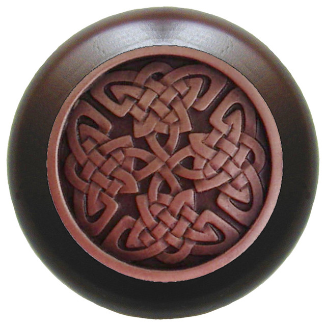 Celtic Isles Wood Knob traditional-cabinet-and-drawer-knobs