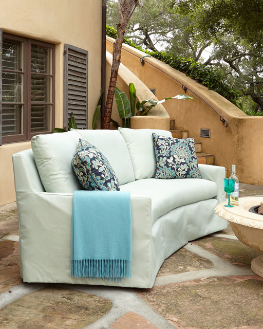 Elena Curved Outdoor Sofa Outdoor Sofas By Horchow