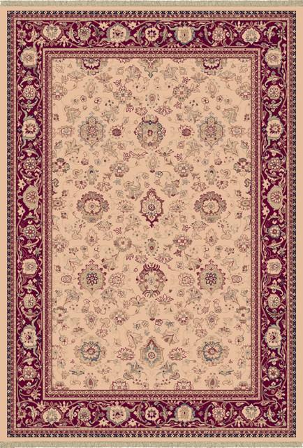"""Ancient Garden 53123-118 5'3"""" Round Beige Rug contemporary-rugs"""