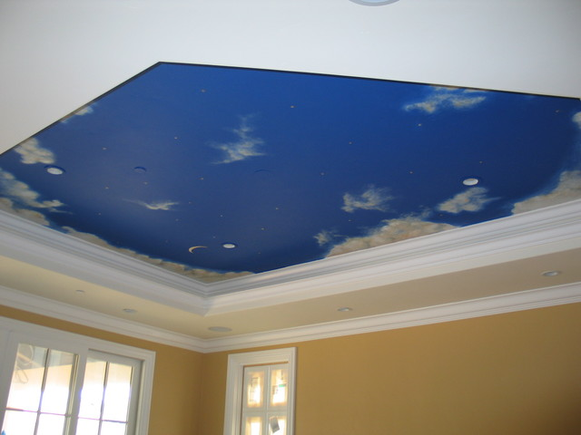 wallpaper for ceiling mural sky - photo #46