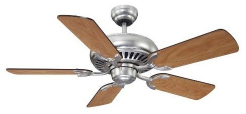 "Savoy House 42-SGC-5RV-SN Pine Harbor 42"" Ceiling Fan in Satin Nickel 42-SGC-5RV modern-ceiling-fans"