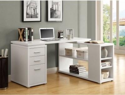 Monarch Hollow-Core Left or Right Facing Corner Desk - White modern-desks