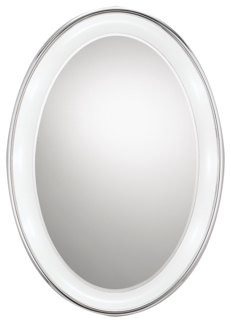 Tigris Oval Mirror by Tech Lighting contemporary-bathroom-mirrors