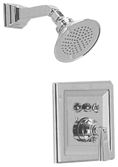 Town Square Shower Faucet Only in Satin Nickel contemporary-showerheads-and-body-sprays
