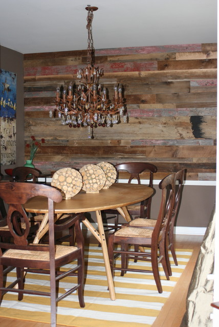 dining room wall art rustic chicago by reclaimed