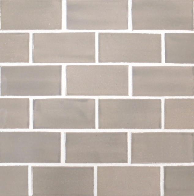 X4 Subway Tile In Light Grey Modern Tile