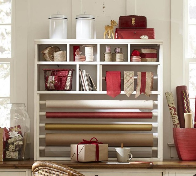 Whitney Wrapping Paper Hutch Contemporary Storage And