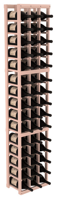 3 Column Magnum/Champagne Wine Kit in Redwood, White Wash + Satin Finish contemporary-wine-racks