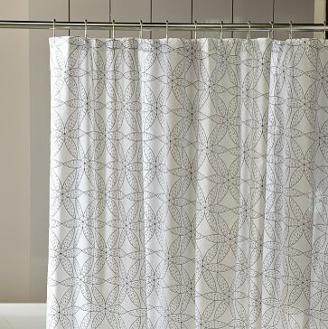 Gerbera Shower Curtain | West Elm   Contemporary   Shower Curtains .