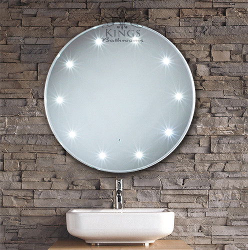 Commercial Lighting Manchester: Round LED Bathroom Mirror