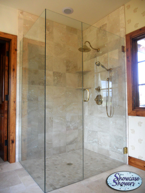 Corner Showers - Shower Stalls And Kits - louisville - by Showcase Showers, Inc.