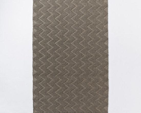 Textured Peaks Wool Rug -
