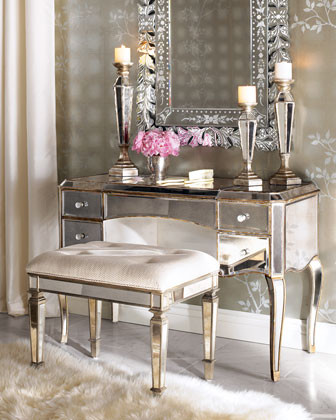 Mirrored Vanity traditional bathroom vanities and sink consoles