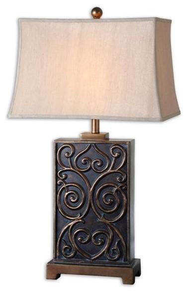 Uttermost Lavinta Dark Bronze Table Lamp modern-table-lamps