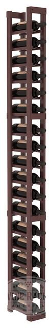 1 Column Standard Cellar Kit in Pine with Walnut Stain + Satin Finish traditional-wine-racks