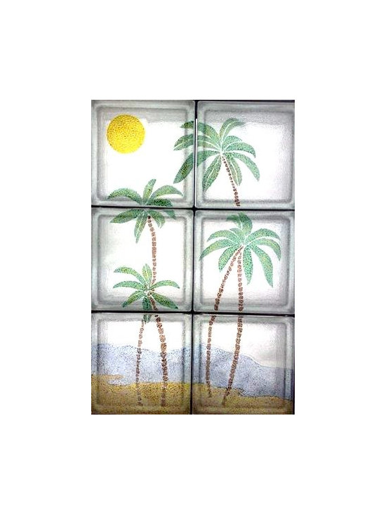 TROPICAL ISLAND - PALM TREES IN SMALL ISLAND