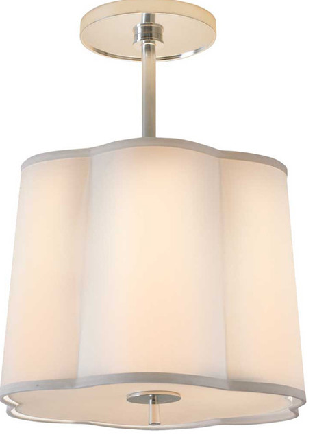 Small Simple Scallop Pendant contemporary-pendant-lighting