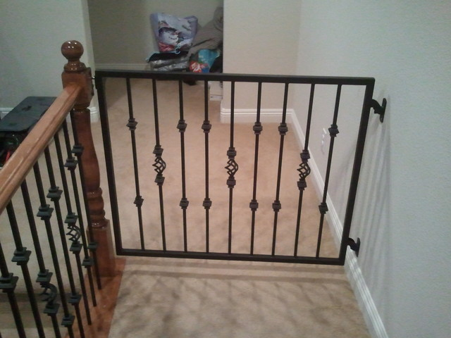 Baby Gates traditional-staircase