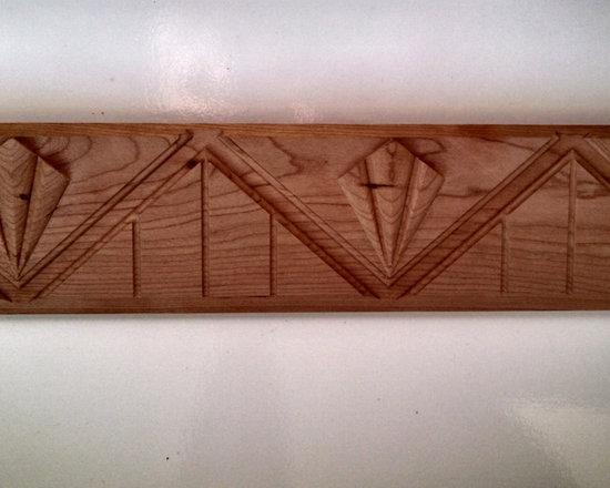 New custom Art Deco style wood moulding (Pattern D2973) -