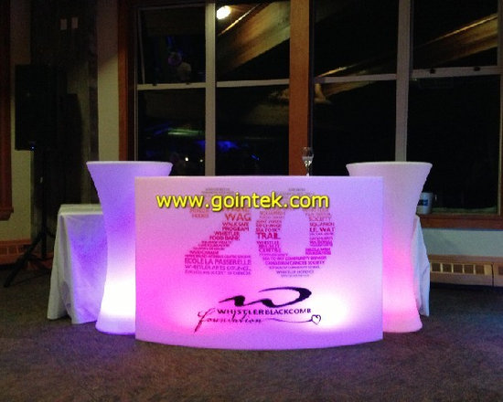 glowing color lighting LED bar table -