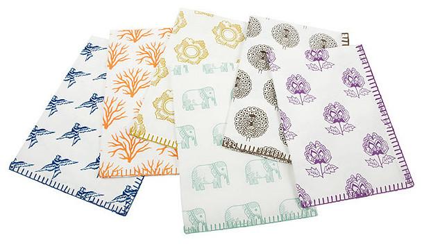 Simrin Block Print Dish Towels eclectic-dish-towels
