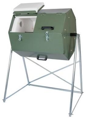 Joraform 33 Gallon 125 Compost Tumbler modern-trash-cans