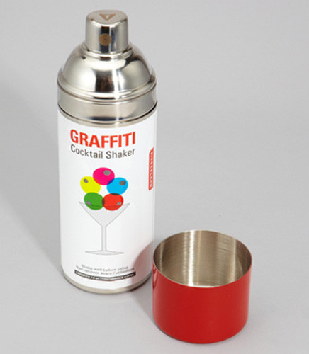 Graffiti Cocktail Shaker eclectic-wine-and-bar-tools