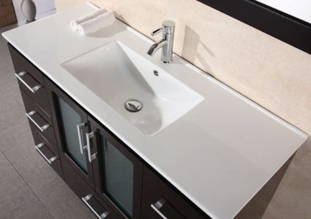 All In One Bathroom Sink And Countertop : ... Countertop with Integrated Drop In Sink - Modern - Bathroom Sinks - by