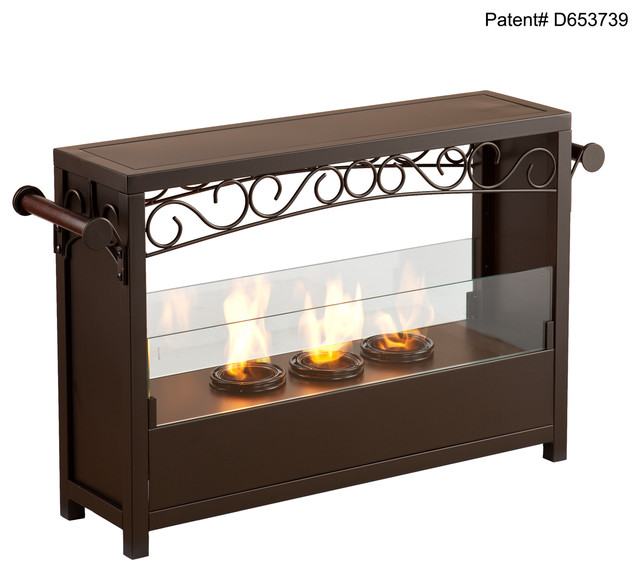 Saratoga Portable Indoor Outdoor Gel Fireplace Contemporary Fireplaces By Shop Chimney